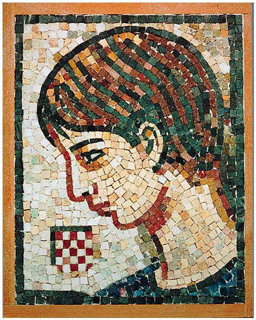 "11""x 14"" -  As in ""Dove"", the emphasis of this mosaic is on facial expression."