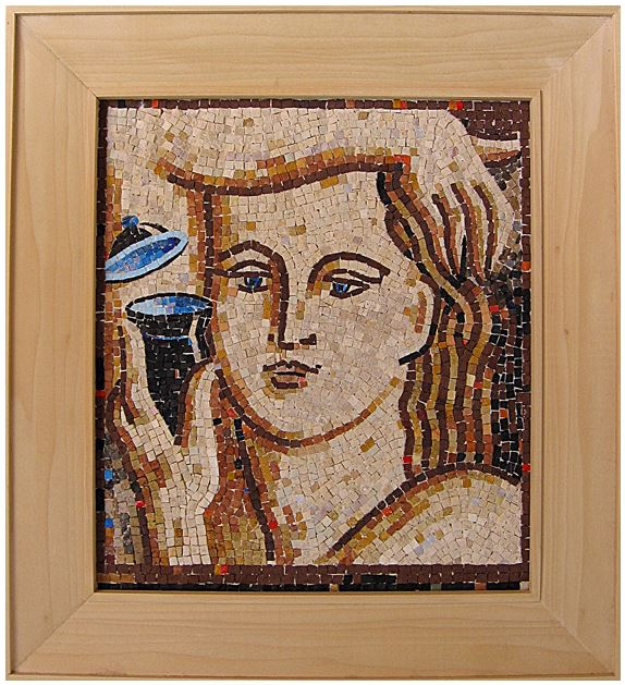 "15""x 17"" - This mosaic's soft facial features allude to the serenity of the moment."